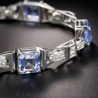 Bailey, Banks & Biddle Art Deco Sapphire and Diamond Bracelet