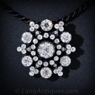 Beautiful Victorian Diamond  Pendant - 10 Carats Total Weight! - 1