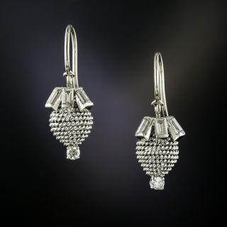 Beehive Baguette Diamond Ear Drops - 3