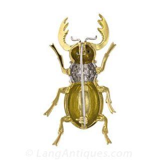 Bejewelled Beetle Brooch