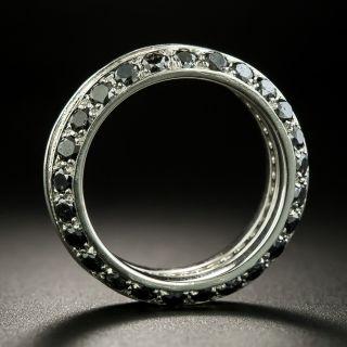 Black & Golden Diamond Eternity Wedding Band -- Size 5 3/4