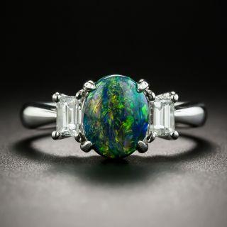Black Opal and Diamond RIng - 1