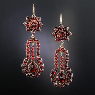 Bohemian Garnet Drop Earrings - 1
