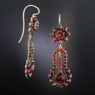 Bohemian Garnet Drop Earrings