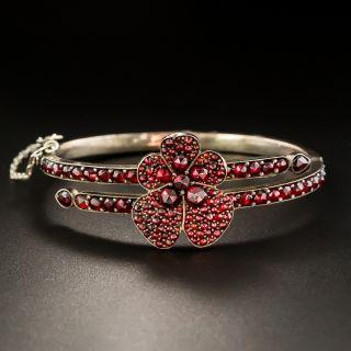 Bohemian Garnet Pansy Bracelet - 1