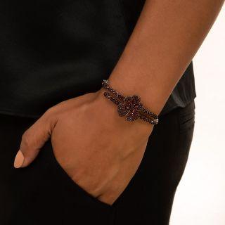 Bohemian Garnet Pansy Bracelet