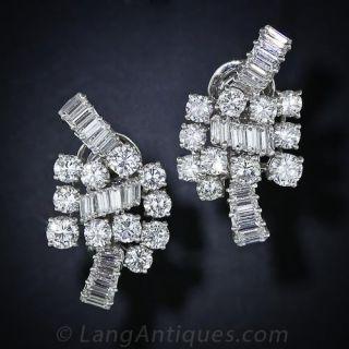 Boucheron Diamond and Platinum Ear Clips - 1