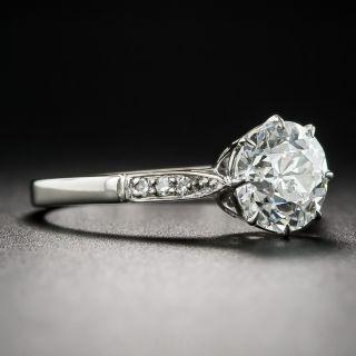 British 1.54 Carat Old European-Cut Vintage Solitaire Diamond Ring