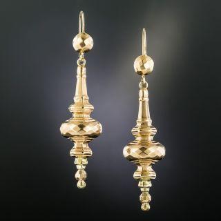 British Victorian Dangle Earrings - 2