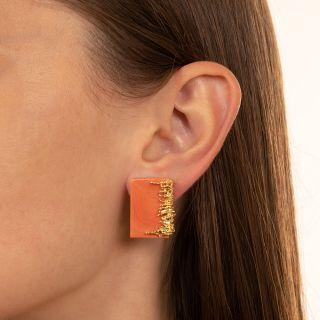 Brutalist Coral Earrings