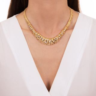 Brutalist Diamond Necklace - French