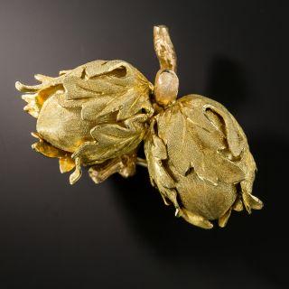 Buccellati Double Acorn Brooch - 1