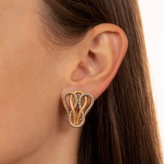 Buccellati Two-Tone Weave Earrings