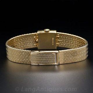 Bucherer 18KY Gold Ladies Bracelet Watch