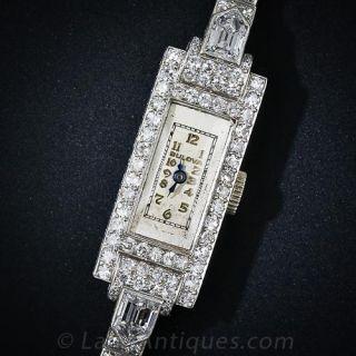 Bulova Platinum Diamond Wrist Watch