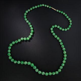 Burmese Jade Bead 22 1/2 Inch Strand - 2
