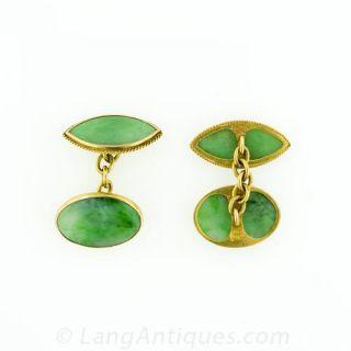 Burmese Jade Cufflinks