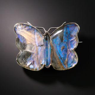 Butterfly Wings Silver Butterfly Brooch