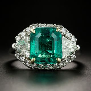 Cartier 5.22 Carat Emerald Diamond Platinum Ring - 2