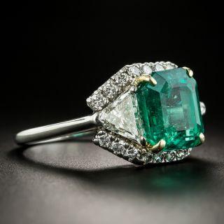 Cartier 5.22 Carat Emerald Diamond Platinum Ring