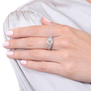 Cartier Art Deco 1.39 Carat Diamond Engagement Ring - GIA H VS2