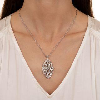 Cartier Art Deco Diamond Necklace, French