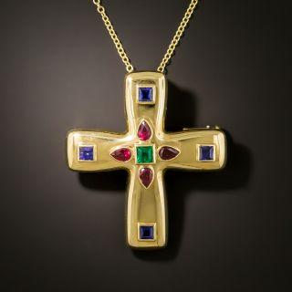 Cartier Multi-Gem Byzantine Cross - 4