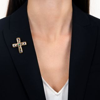 Cartier Multi-Gem Byzantine Cross