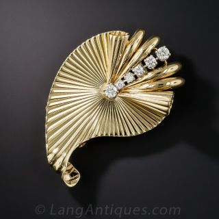 Cartier Paisley Diamond Clip