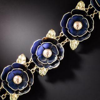 *Cartier Retro Reflecting Enamel Flower Bracelet - 1