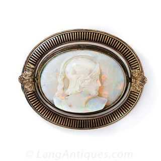 Carved Opal Cameo