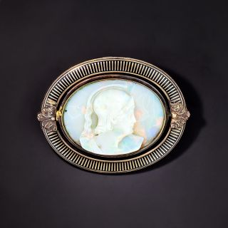 Carved Opal Cameo - 1