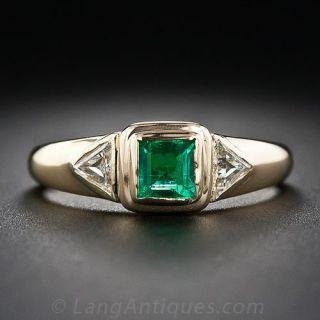 Chaumet Emerald and Diamond Ring