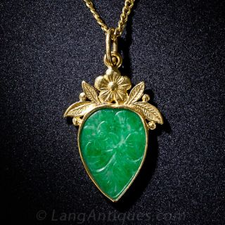 Chinese Jade Drop Necklace - 1