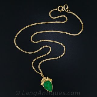 Chinese Jade Drop Necklace