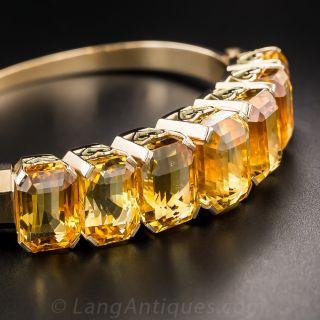 Citrine Bangle Bracelet