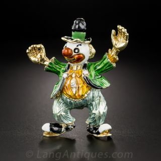 Colorful Clown Brooch