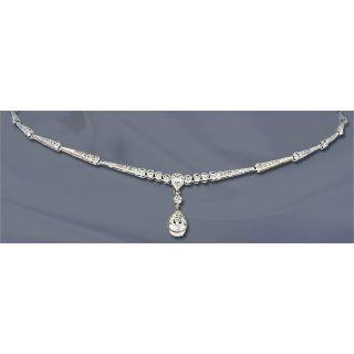 Contemporary Diamond Drop Necklace