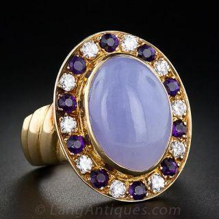 Contemporary Lavender Jade Ring