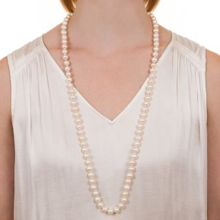 Continuous Strand of Freshwater Cultured Pearls - GIA