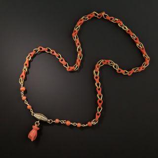 Coral Link Necklace