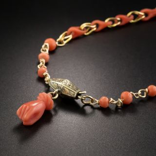 Coral Link Necklace - 1