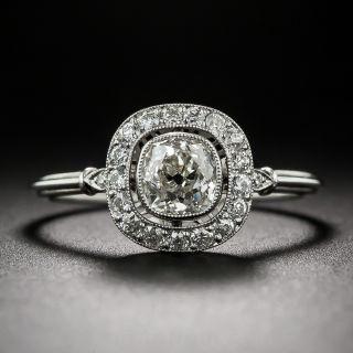 Cushion-Cut Diamond Halo Ring