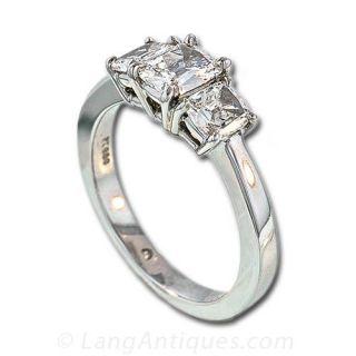 Cushion Diamond Antique Engagement Ring
