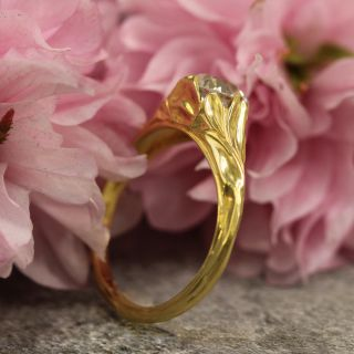 Lang Collection 1.14 Carat Art Nouveau Style Engagement Ring - GIA I SI1