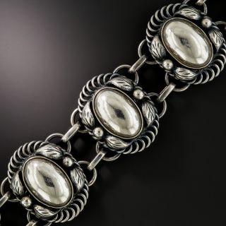 Danish Sterling Silver Handmade Bracelet Signed Daurup - 1