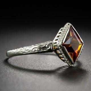 Darling Small Art Deco Citrine Ring