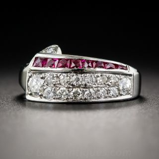 Deco/Retro Ruby and Diamond Ring