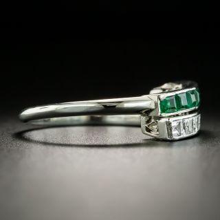 Diamond and Emerald Single Row Band