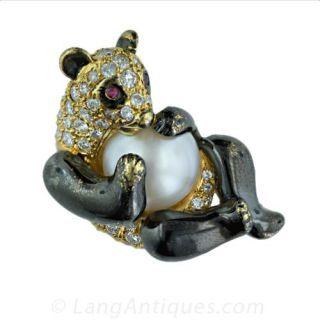 Diamond and Pearl Panda Pin Main View